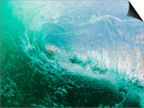 Shorebreak wave Print by Mark A. Johnson