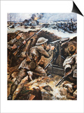 First Battle of the Somme (Colour Litho) Prints by Stanley L. Wood