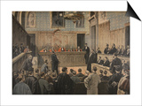 The Panama Trial, Illustration from 'Le Petit Journal: Supplement Illustre', 2nd January 1898 Prints by F.L. Meaulle