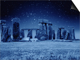 Stonehenge at Night Poster by M. Dillon