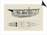 The Cutter Surf, Cabin Plans Posters by Charles P. Kunhardt