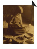 Native American Indian, the Potter (Nampeyo) Hopi Posters by Edward S. Curtis