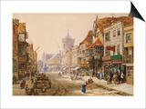 The High Street, Salisbury Prints by Louise J. Rayner