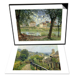 Louveciennes Or, the Heights at Marly, 1873 & Villeneuve-La-Garenne, 1872 Set Prints by Alfred Sisley