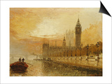 View of Westminster from the Thames Prints by Claude T. Stanfield Moore