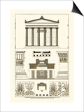 Portico, Coffer and Palmette-Ornament Prints by J. Buhlmann
