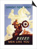 Canada's New Army: Men Like You Posters by M. Gagnon