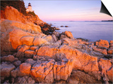 Bass Harbor Head Lighthouse at Sunset Prints by George H.H. Huey