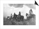 Before the Storm Print by Edward S. Curtis