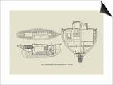The Windward-Accommodation Plans Prints by Charles P. Kunhardt