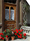 Entrance to Chalet Maria, Zermatt, Switzerland Print by Lisa S. Engelbrecht