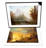 Sunset in the Rockies & Half Dome, Yosemite Set Posters by Albert Bierstadt