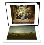 Parc outons, clair de lune & Le bouquet de marguerites Set Posters by Jean-François Millet