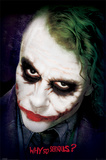 The Dark Knight - Joker Face Póster
