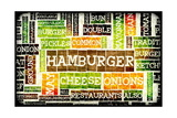 Hamburger Menu in a American Fast Food Restaurant Posters by  kentoh