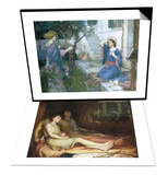 Sleep and His Half Brother Death & The Annunciation, c.1914 Set Posters by John William Waterhouse