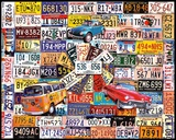 License Plates 1000 Piece Puzzle Jigsaw Puzzle