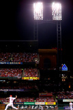 Los Angeles Dodgers v St Louis Cardinals - Game Three Photographic Print by Dilip Vishwanat
