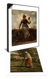 La petite berg & La Fileuse, chevri auvergnate Set Prints by Jean-François Millet