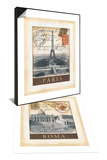 Destination Rome & Destination Paris Set Prints by Tina Chaden