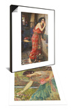 Gathering Roses & Thisbe or The Listener, c.1909 Set Prints by John William Waterhouse