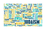 Judaism or Jewish Religion as a Concept Poster by  kentoh