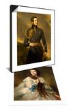 Mme Barbe de Rimsky-Korsakow & Prince Albert de Saxe-Cobourg-Gotha (1819-1861) Set Posters by Franz Xaver Winterhalter