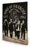 Sons of Anarchy - Reaper Crew Znak drewniany