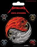 Metallica - Yin & Yang Skulls - Pushead Sticker Set Stickers