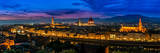 Florence, Italy - Skyline View at Twilight Prints by David Ionut