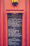 Retro Paris Restaurant Menu Photographic Print by Mr Doomits