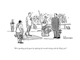 """We're speeding up the game by replacing the seventh inning with the 'Ring…"" - New Yorker Cartoon Premium Giclee Print by John Klossner"