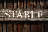 Rustic Stable Sign Photographic Print by Mr Doomits