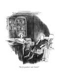 """Oh, for goodness' sake! Smoke!"" - New Yorker Cartoon Premium Giclee Print by Charles Saxon"