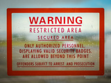 Restricted Access Sign Photographic Print by Mr Doomits