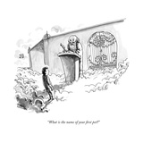 """What is the name of your first pet"" - New Yorker Cartoon Premium Giclee Print by Shannon Wheeler"