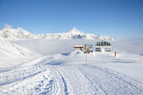 Ski Lift Station in Mountains at Winter, Val-D'isere, Alps, France Photographic Print by  haveseen