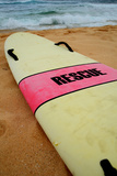 Rescue Surfboard Photographic Print by Mr Doomits
