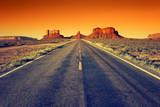 Road to Monument Valley at Sunset Fotodruck von  prochasson