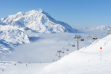 Mountains with Snow in Winter, Val-D'isere, Alps, France Photographic Print by  haveseen