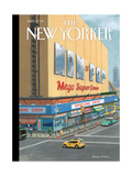 Mom & Pop Mega Superstore - The New Yorker Cover, October 13, 2014 Premium Giclee Print by Bruce McCall