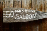 Wild West Saloon Sign Photographic Print by Mr Doomits