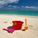 Beach Toys in the Sand Photographic Print by  haveseen