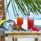 Two Cocktails at Tropical Beach Photographic Print by  haveseen
