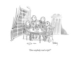 """Does anybody read script?"" - New Yorker Cartoon Premium Giclee Print by Avi Steinberg"
