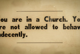 Vintage Church Rules Sign Photographic Print by Mr Doomits