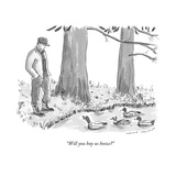 """Will you buy us booze?"" - New Yorker Cartoon Premium Giclee Print by Trevor Spaulding"