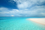 Crystal Clear Turquoise Water at Tropical Maldivian Beach Photographic Print by  haveseen
