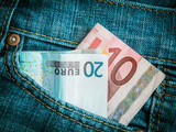 Jeans Pocket Money Photographic Print by Mr Doomits