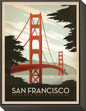 San Francisco: Golden Gate Bridge Framed Print Mount by  Anderson Design Group